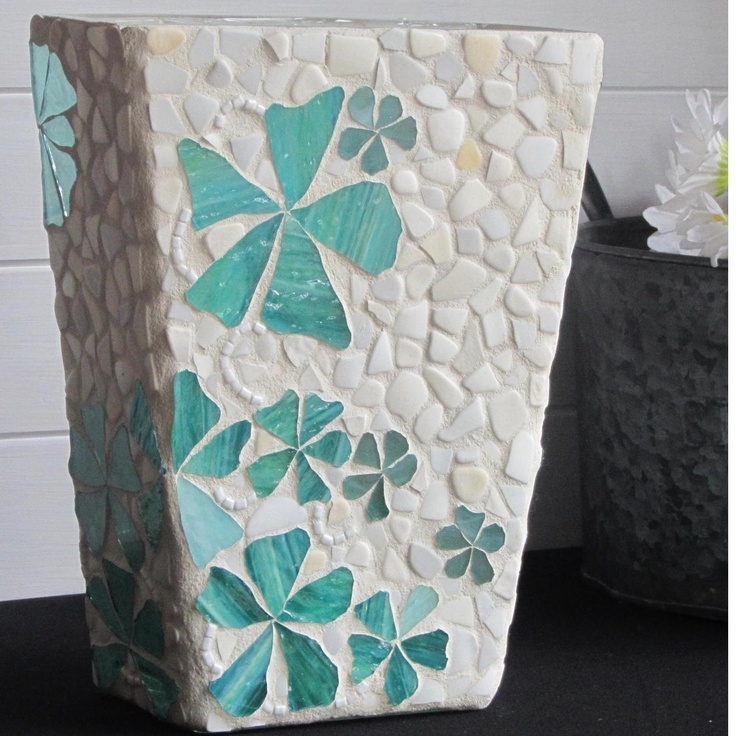 Vase in Mosaic by mosaicsbyfosic on Handmade Australia