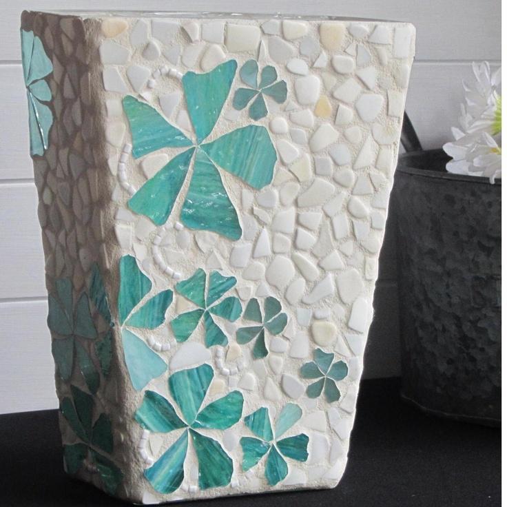 $45.00 Vase in Mosaic by mosaicsbyfosic on Handmade Australia