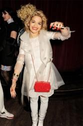 Rita Ora has been spotted this week with her red Lego clutch