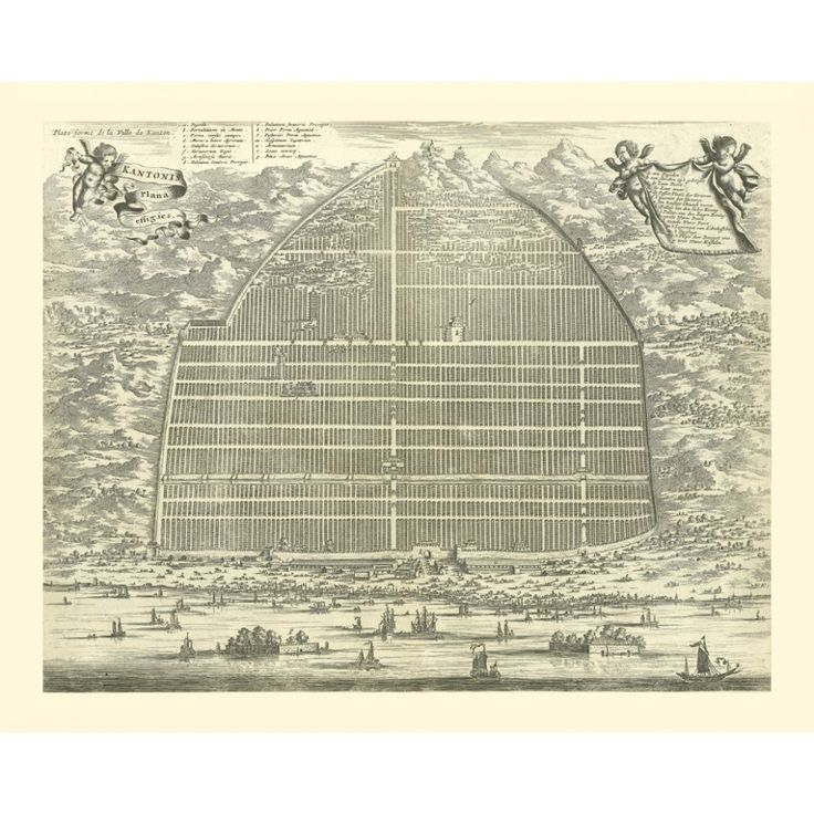 Vintage city plan of Guangzhou - Canton  printed on handmade paper. Italy: antique map reproduction printed on a handmade paper.  #map, #antiquemap, #vintagemap, #oldmap #historicalmap, #mapreproduction #mapreproductions #oldmaps, #vintagemaps, #antiquemaps, #historicalmaps #handmadepaper #maps, #mapdecor, #traveldecor #walldecor, #mapgifts, #guangzhou, #canton