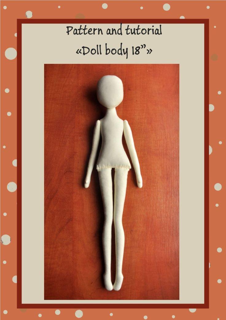 PDF Cloth Doll Pattern 18 PDF Sewing TutorialSoft   Etsy