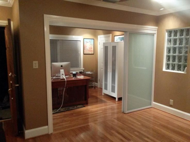 Room Divider Closet Door System By Classic Home Improvement Products. White  Panels White Laminated Glass
