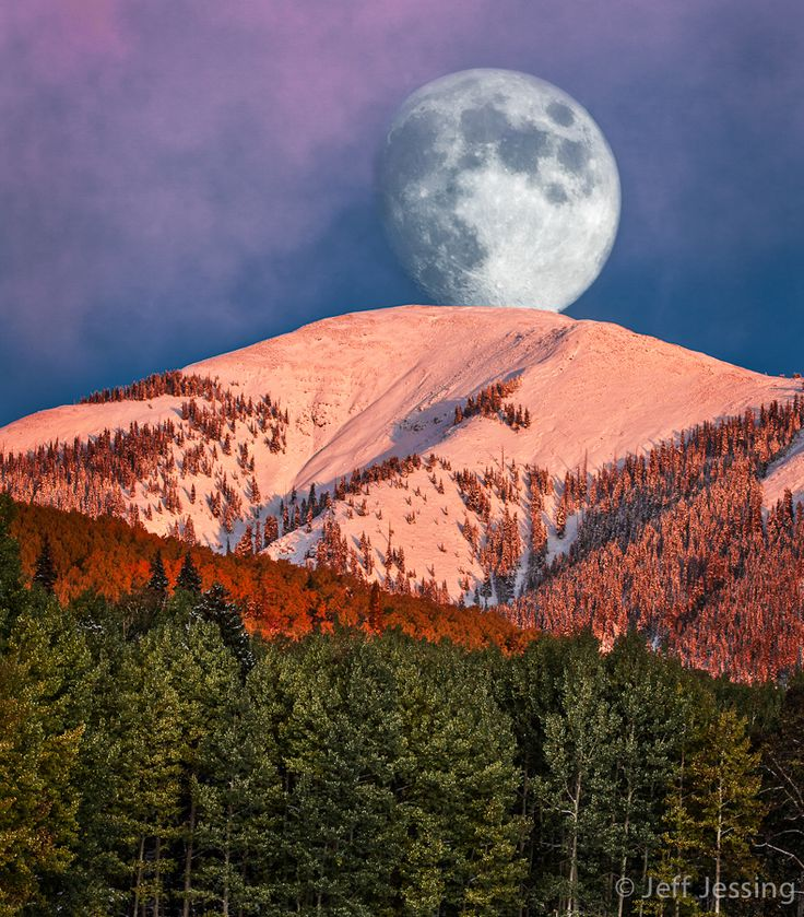 ~~Lunar La Plata ~ moon setting over Madden Peak, La Plata Mountain Range, Southwest Colorado by Jeff Jessing~~