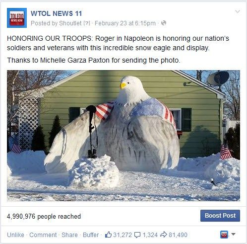 Napoleon man honors fallen soldiers with snow sculpture - WSMV Channel 4