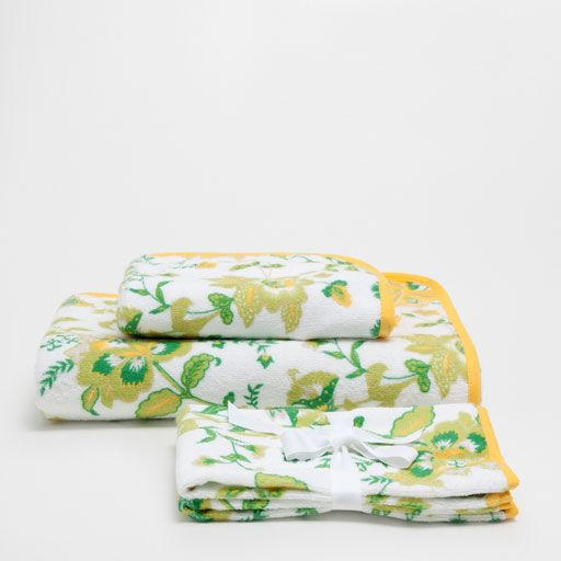 Image of the product COTTON TOWELS WITH BIAS TRIM PRINT
