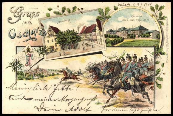 Oschatz postcard