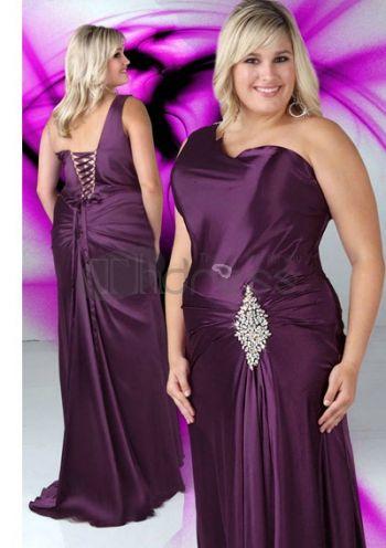 Abiti da Ballo Taglie Forti-V collo eleganti tesoro viola abiti da ballo taglie forti