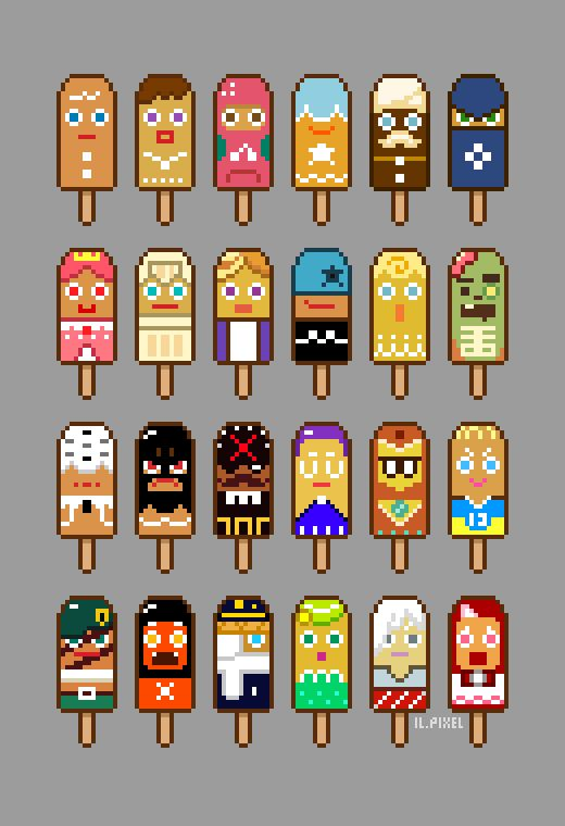 Pixelated Cookie Run... popsicles