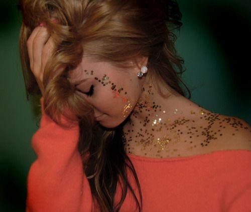 glitttttter: Idea, Girl, Style, Makeup, Things, Beauty, Sparkle, Hair Color, Glitter
