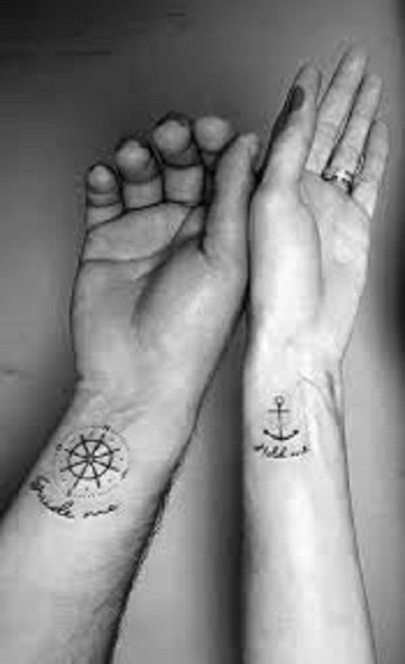 109 Matching Couple Tattoos | improves #pair tattoos #important #improved