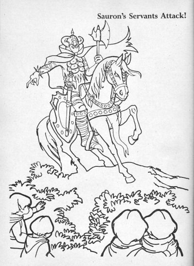 14 best Coloring pages from LOTR images on Pinterest Coloring