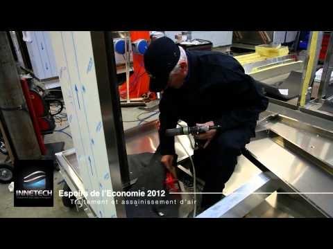 Réalisation de la vidéo de présentation des espoirs de l'économie pour le compte de la CCI de Brest. Présentation de l'entreprise Innetech à Saint Renan réalisée par http://www.air-media29.com