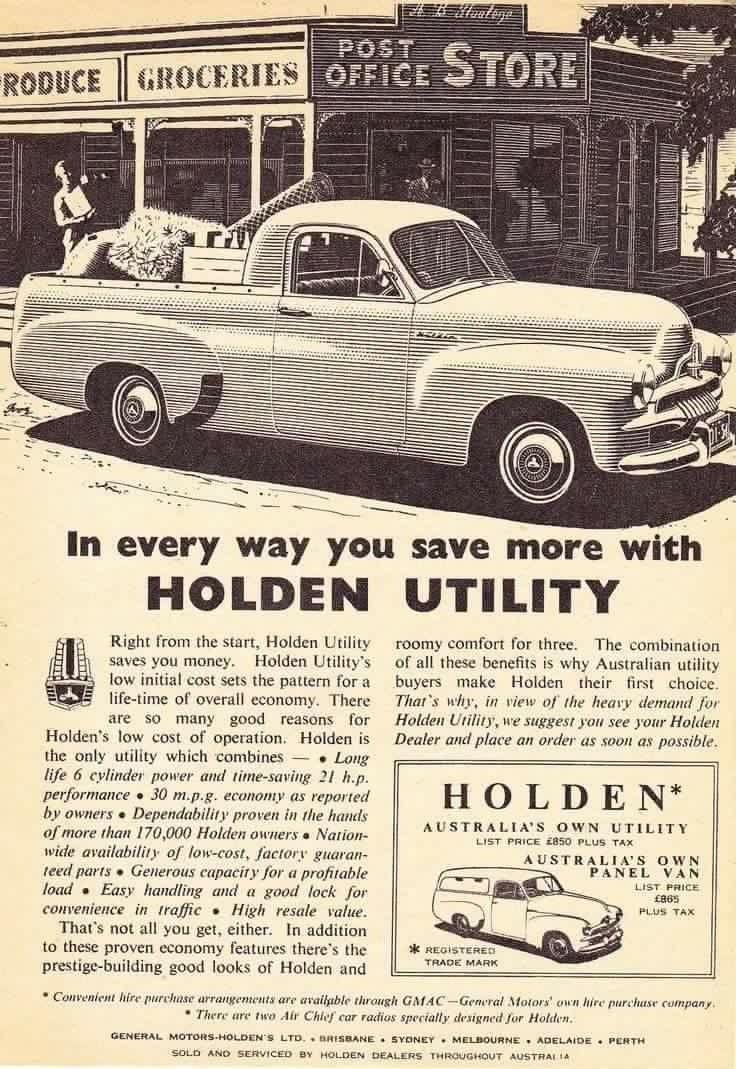 Holden Ute 1950s Vintage Cars Holden Australia Holden