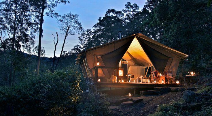 glamping qld nightfall camp luxury tent