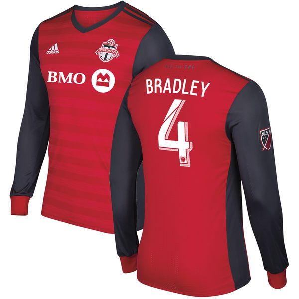Michael Bradley Toronto FC adidas 2017 Primary Authentic Long Sleeve Jersey - Red - $179.99