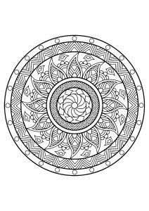 Mandala Livre Coloriage Gratuit 25 Créa Divers Coloriage