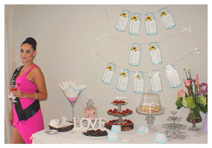 Dessert Table items great for hens parties. Email us onestopeventsbali@gmail.com