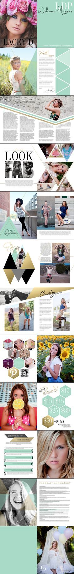 Lacey D Photography Welcome Magazine - Welcome Packet - Senior Portraits - Packaging for our fashion page??