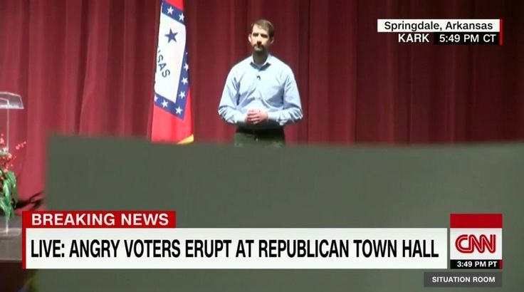 I truly believe this moment, at SenatorTom Cotton's town hall, changed the entire dynamics of the ACA debate. The anguish, raw emotionand passionate defense of the ACA by this courageous ladyliterallyhad Cotton cowering before the cameras.    More...