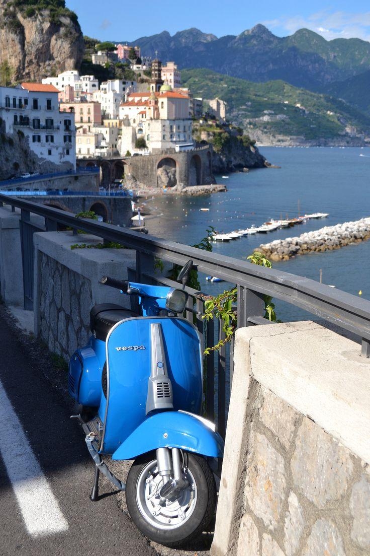 Italian Vespa in Atrani #italy  #amalficoast---------------------------------------------------------------------- by Queen of KawaiiSummer