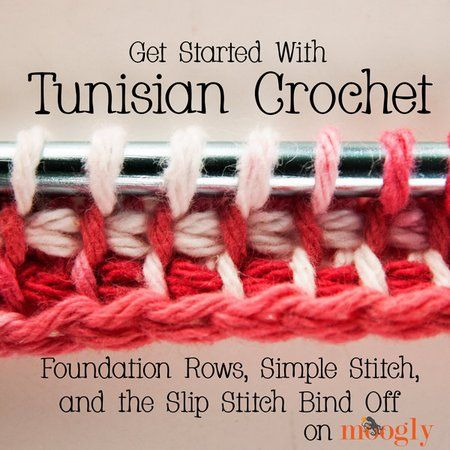 Get Started with Tunisian Crochet, Beginner Tutorials 2 ༺✿ƬⱤღ  http://www.pinterest.com/teretegui/✿༻