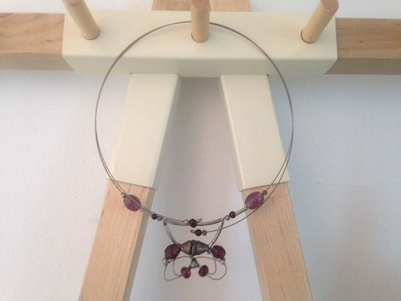 Crystal Butterfly Necklace por FlamingoImportMiami en Etsy
