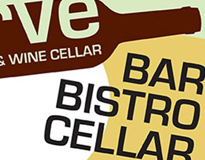 "Check out new work on my @Behance portfolio: ""Logo and Print Design: Verve Bistro & Wine Cellar"" http://on.be.net/1K67IfW"