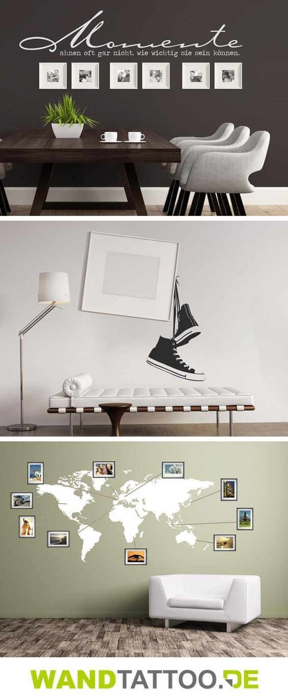Photo of Wall tattoos combined with picture frames