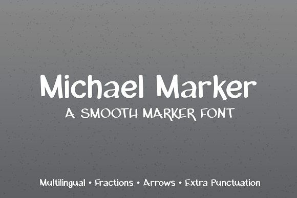 Michael Marker Font by Kristy Hatswell on @creativemarket