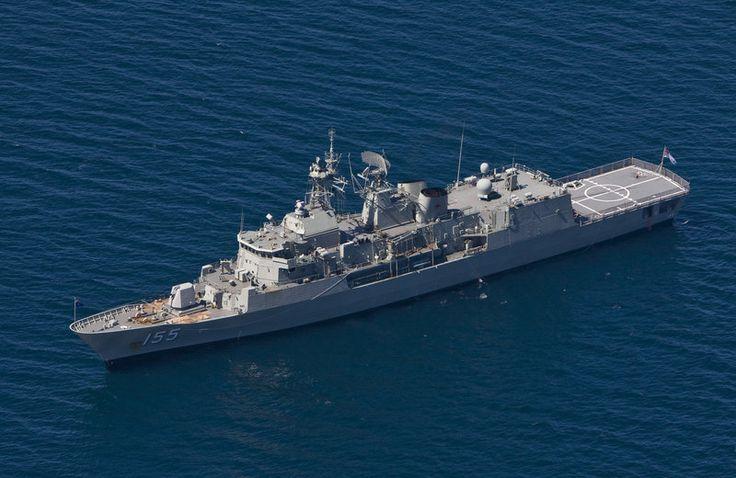 Royal Australian Navy Anzac class frigate HMAS Ballarat (F 155).