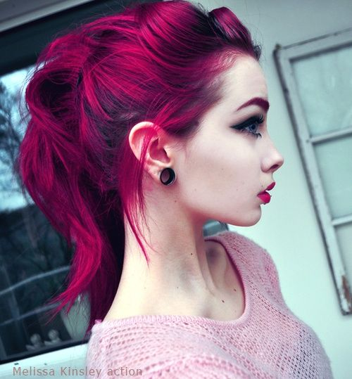 Magenta hair. Wish it would look this good on me, and I love all the different tones to it. <3 WANT.