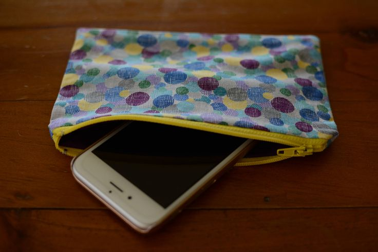 Excited to share the latest addition to my #etsy shop: Zipper Pouch, Pencil Case, Cosmetics / Makeup Bag, iPhone Pouch, iPod Holder http://etsy.me/2EdZNTz #bagsandpurses #blue #yellow #cosmetics #makeupbag #iphone #ipod #wallet #coinpurse