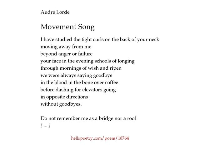 Audre Lorde Movement Song Movement Songs Songs Audre