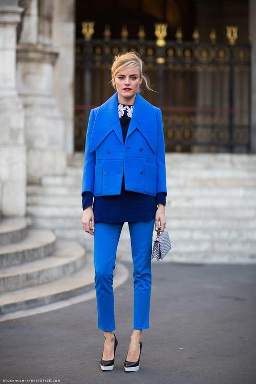 tendencia azul cobalto Moda otoño invierno 2013