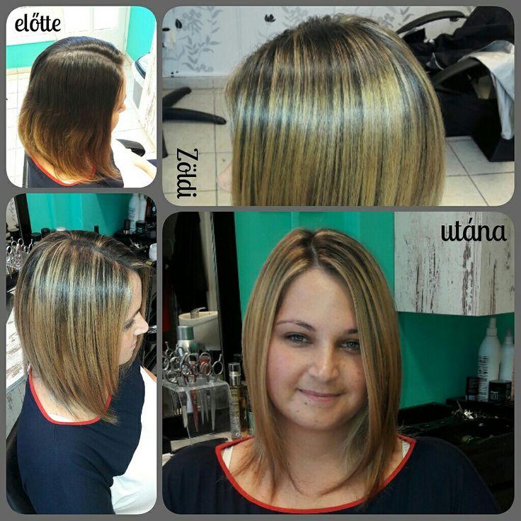 #zöldiszilvia #mywork #munkám #hajfestés #haircolor #balayage
