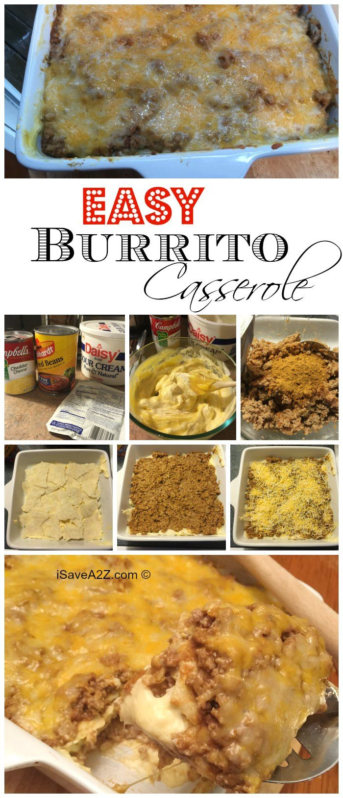 Easy Burrito Casserole Recipe - iSaveA2Z.com