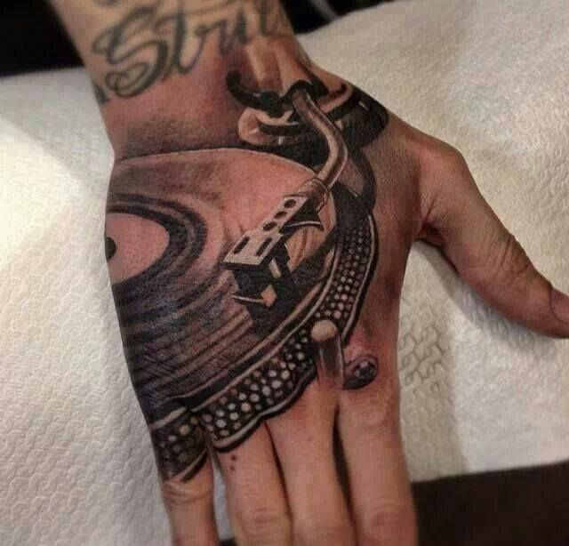 Vinyl Record Player Tattoo