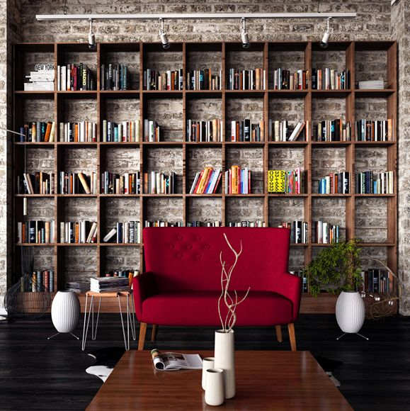 I really like how this bookshelf doesn't seem cramped or cluttered. While a fully-stocked bookshelf is nice, a bookshelf that looks like it's actually used (and organized to be used) is better. Being able to easily take out or re-shelve a book has its merits.