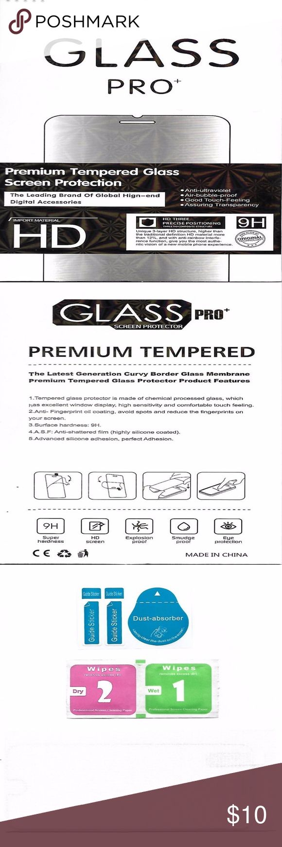 Tempered Glass Screen Protector iPhone 7 Plus Features: Premium Tempered Glass Screen Protection 9H Hardness HD Screen Anti-ultraviolet Air bubble proof Accessories Phone Cases