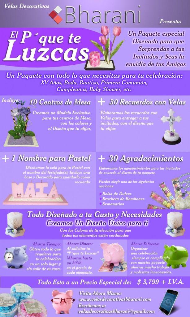 Paquete Luzcas, paquete todo incluido para decorar tu evento