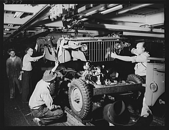 #8 With all of the support from American Citizens the military had no problem funding jeeps. Ford Motors in Detroit mass-produced these vehicles for the military. Since the war was not being fought on American soil they were designed so they could be easily transported.