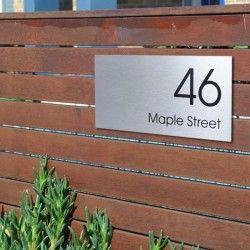 Mayfair Custom Address Plaque Small House Signs