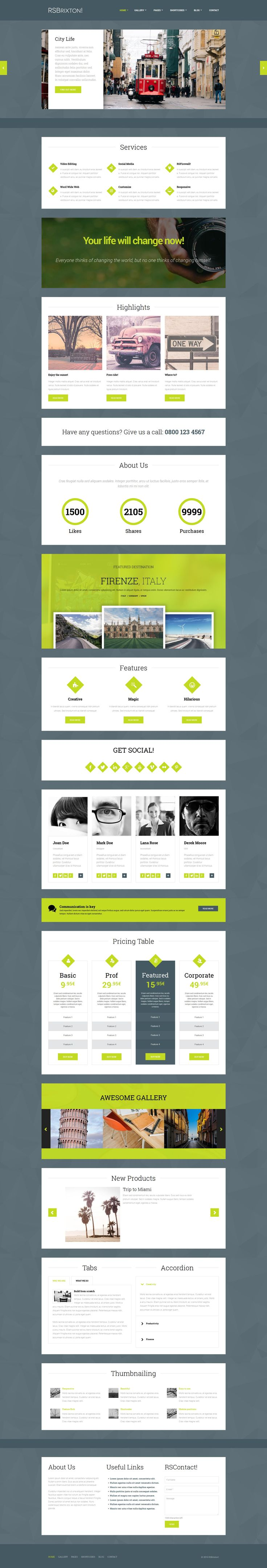 Kick-start your business with #RSBrixton!, a clean modern #website #Template #Design that assures great #UserExperience!