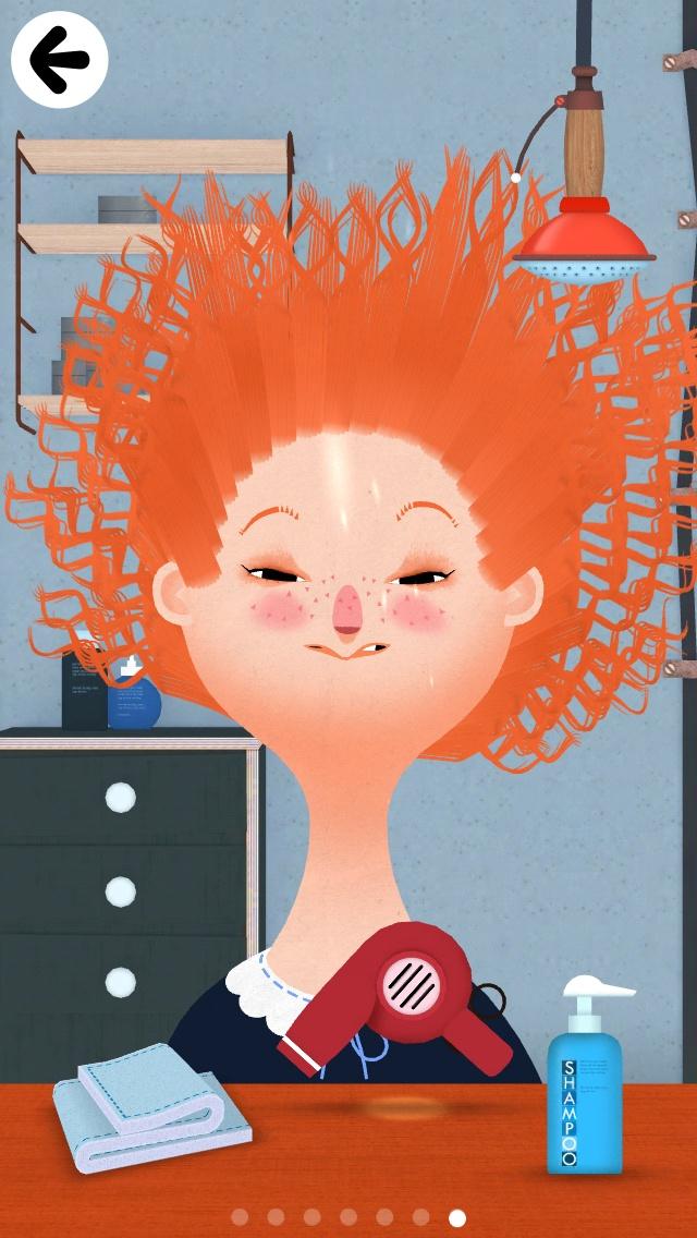 Toca Boca Hair Salon 2 -  https://itunes.apple.com/gb/app/toca-hair-salon-2/id569632660?mt=8