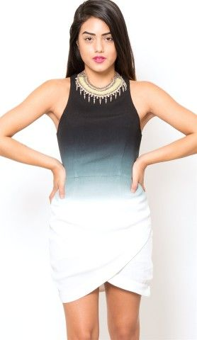 Black/White Gradient Dress from Bless'ed are the Meek at Edith Hart - Edith Hart