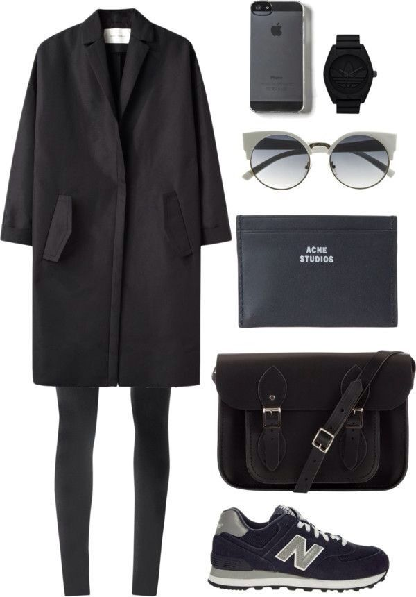 All black. Black clothes. Black accessories.
