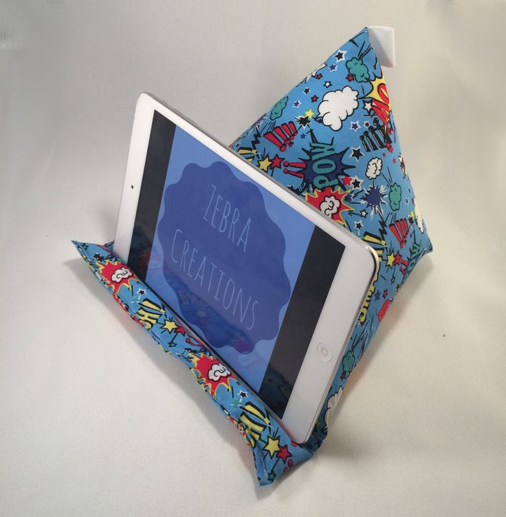 superhero ipad cushion stand, superhero tablet cushion stand, comic book ipad stand, comic book tablet stand by ZebraCreationsUK on Etsy