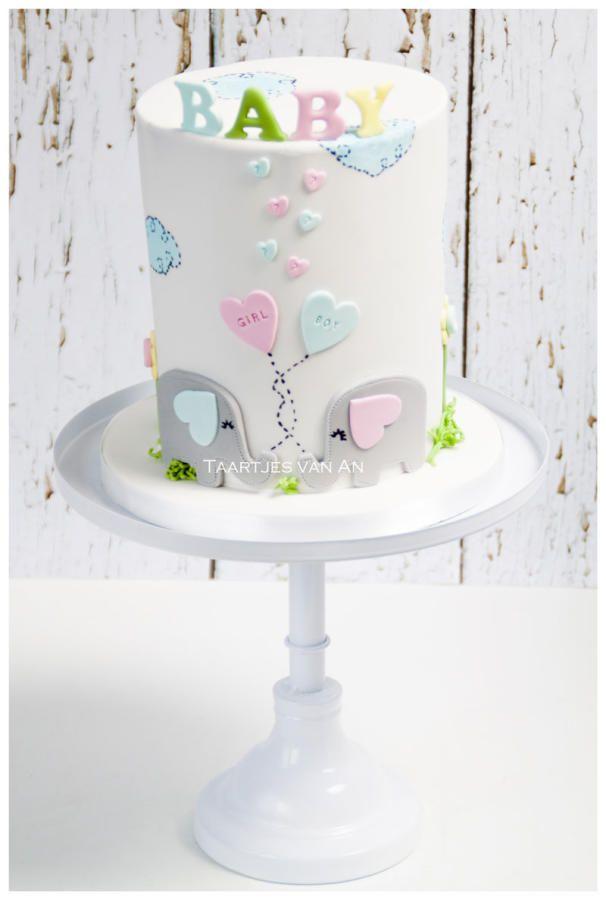 Babyshower boy or girl - Cake by Taartjes van An (Anneke)