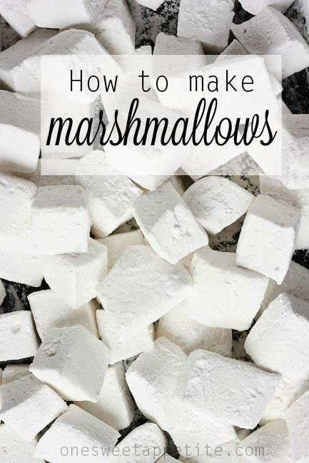 How to make marshmallows. A step by step tutorial. I never knew it was so easy!