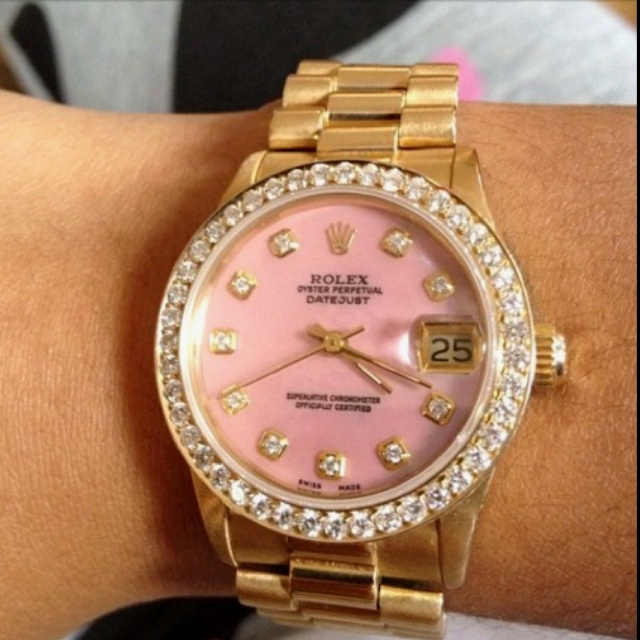 Pink Rolex, yes please